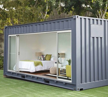 container conversion tiny home bedroom
