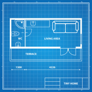 Tiny Home Container Conversions Floor plan